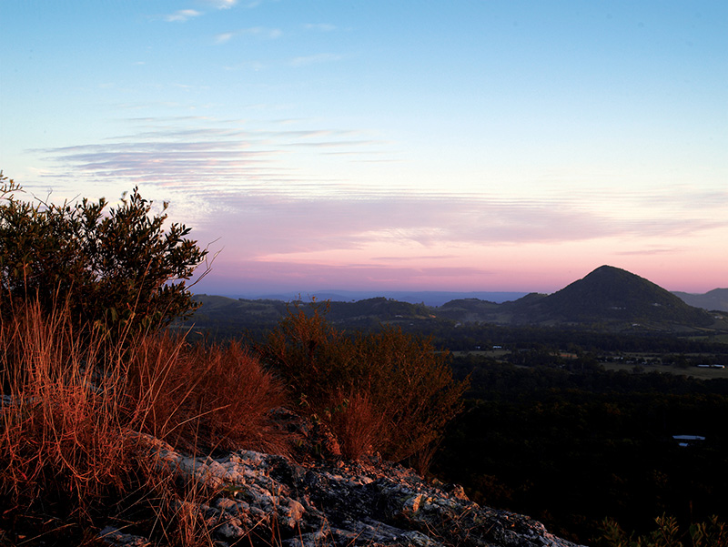 Mt Tinbeerwah at sunset
