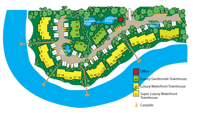 Map of Noosa Entrance Waterfront Resort